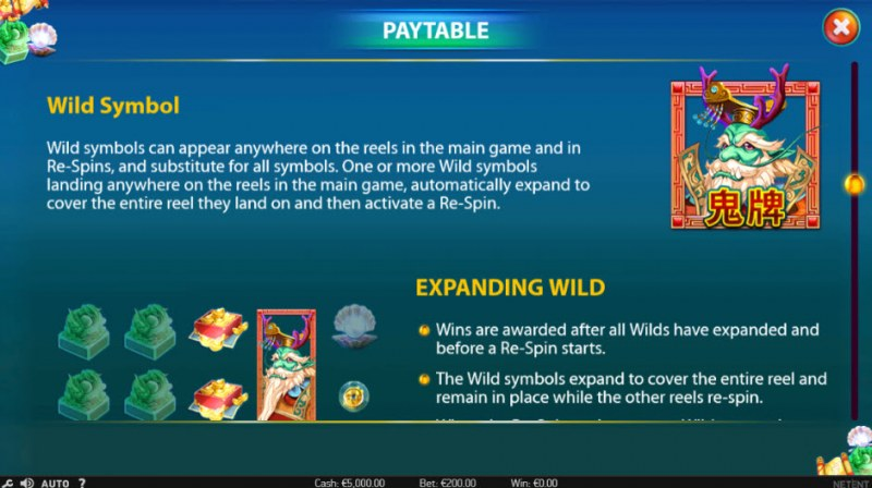 East Sea Dragon King :: Wild Symbols Rules