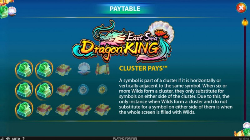 East Sea Dragon King :: Cluster Pays