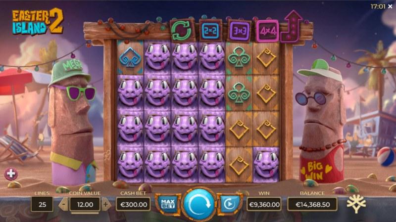 Easter Island 2 :: Multiple winning paylines
