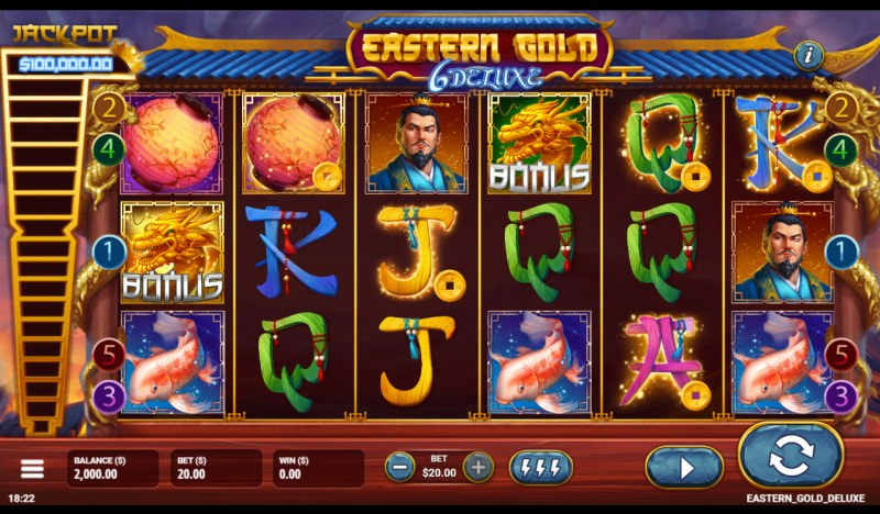 Eastern Gold 6 Deluxe :: Main Game Board
