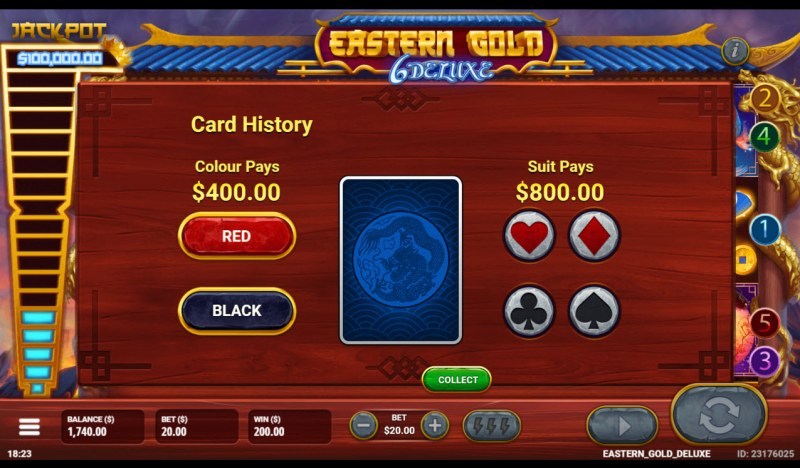 Eastern Gold 6 Deluxe :: Gamble feature