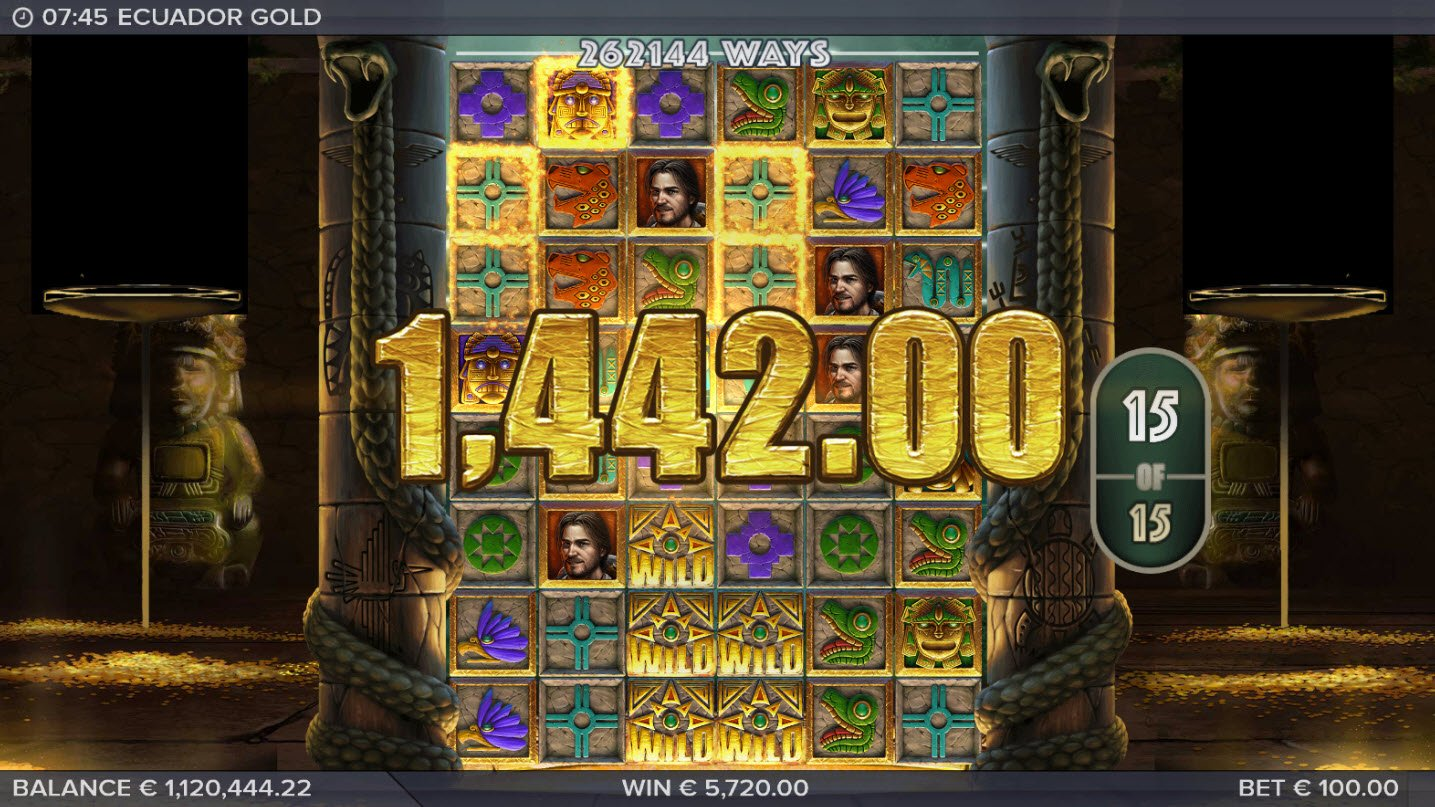 Play slots at Casino Room: Casino Room featuring the Video Slots Ecuador Gold with a maximum payout of $250,000