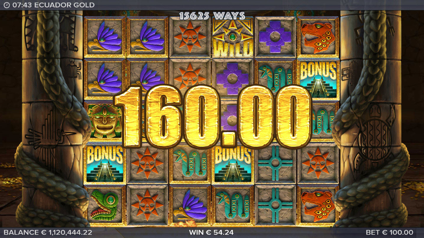 Play slots at Spin Station: Spin Station featuring the Video Slots Ecuador Gold with a maximum payout of $250,000