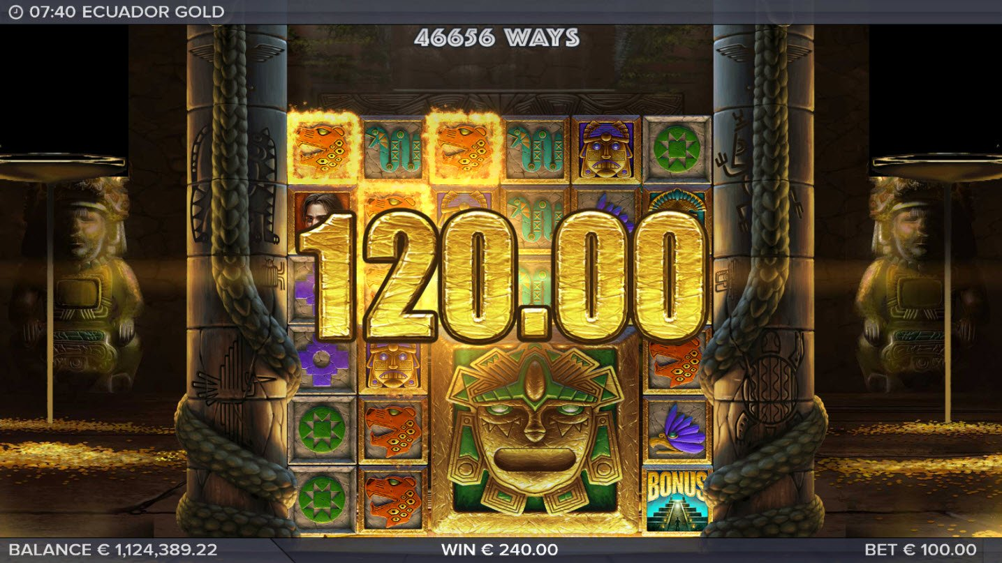 Play slots at Slotty Vegas: Slotty Vegas featuring the Video Slots Ecuador Gold with a maximum payout of $250,000