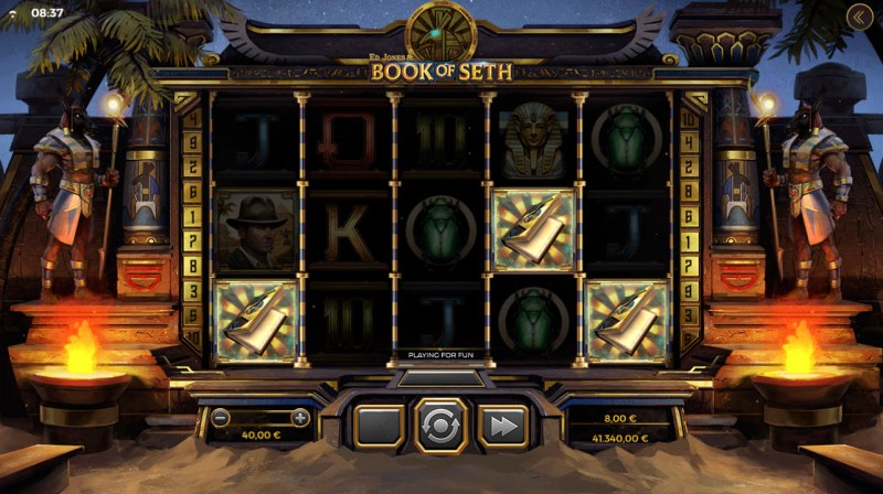 Ed Jones & Book of Seth :: Scatter symbols triggers the free spins feature