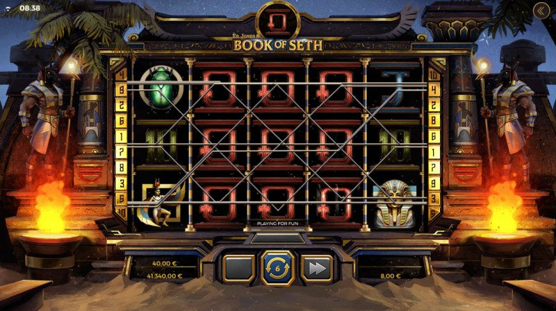 Ed Jones & Book of Seth :: Expanded special symbol leads to big win during free spins feature