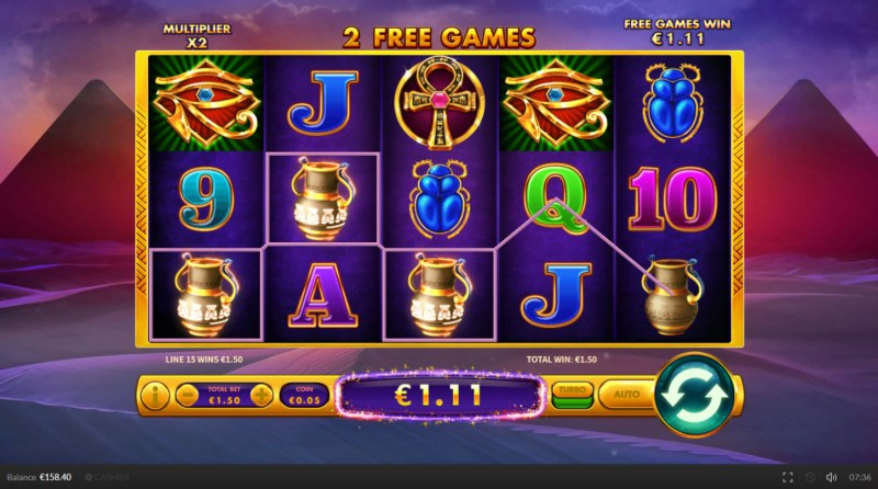 Egypt Cash :: Free Spins Game Board
