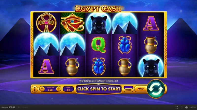 Egypt Cash :: Main Game Board
