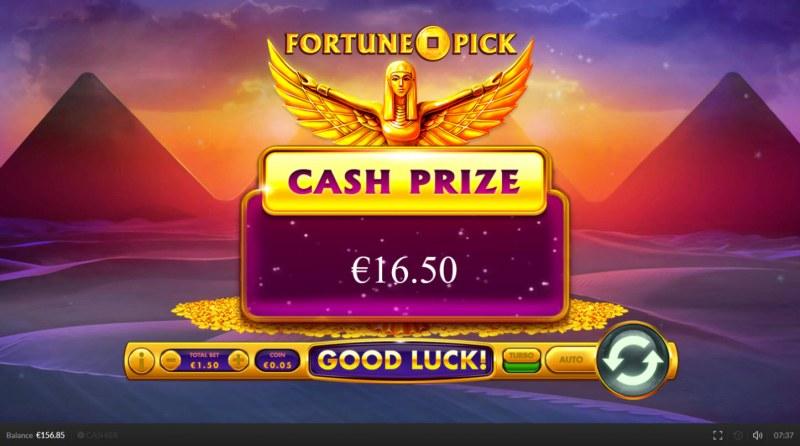 Egypt Cash :: Cash prize awarded