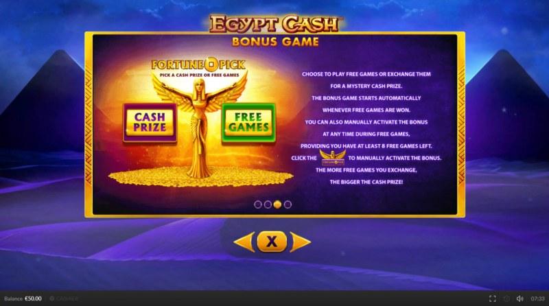 Egypt Cash :: Bonus Game Rules