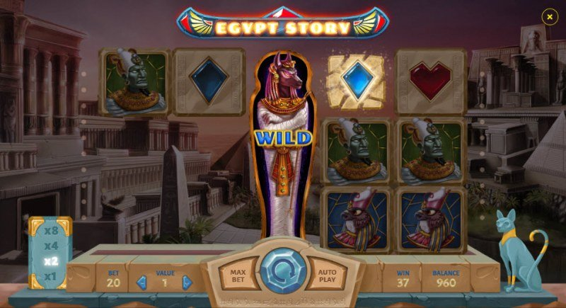 Egypt Story :: Winning symbols are removed from the reels and new symbols drop in place