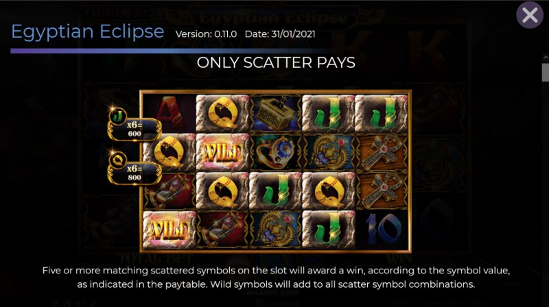 Egyptian Eclipse :: Only Scatter Pays