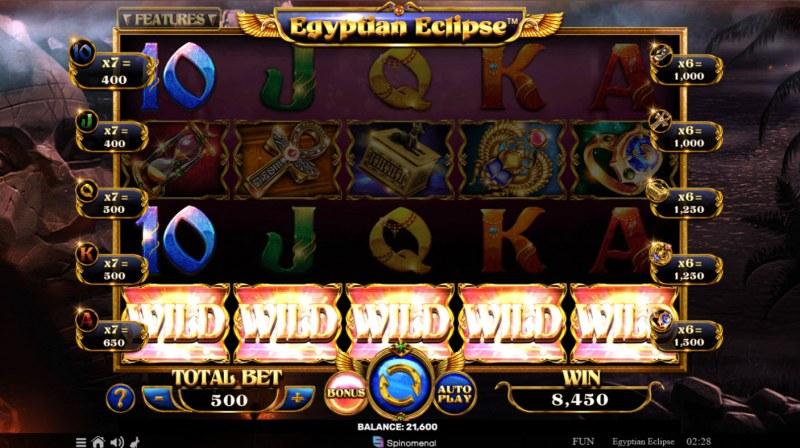 Egyptian Eclipse :: Multiple winning combinations