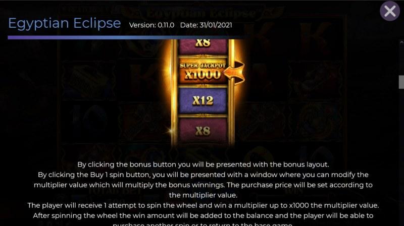 Egyptian Eclipse :: Bonus Buy