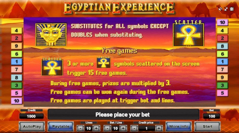Egyptian Experience :: Wild and Scatter Rules