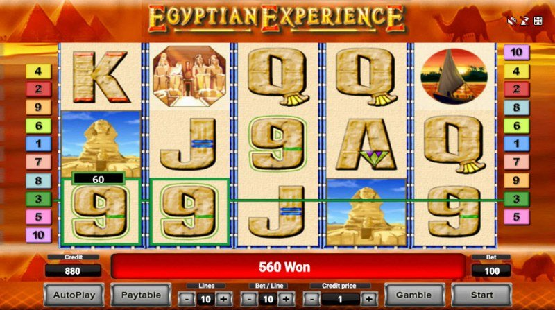 Egyptian Experience :: Free Spins Game Board
