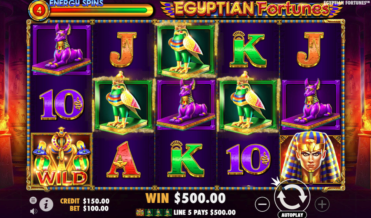 Egyptian Fortunes :: Four of a kind