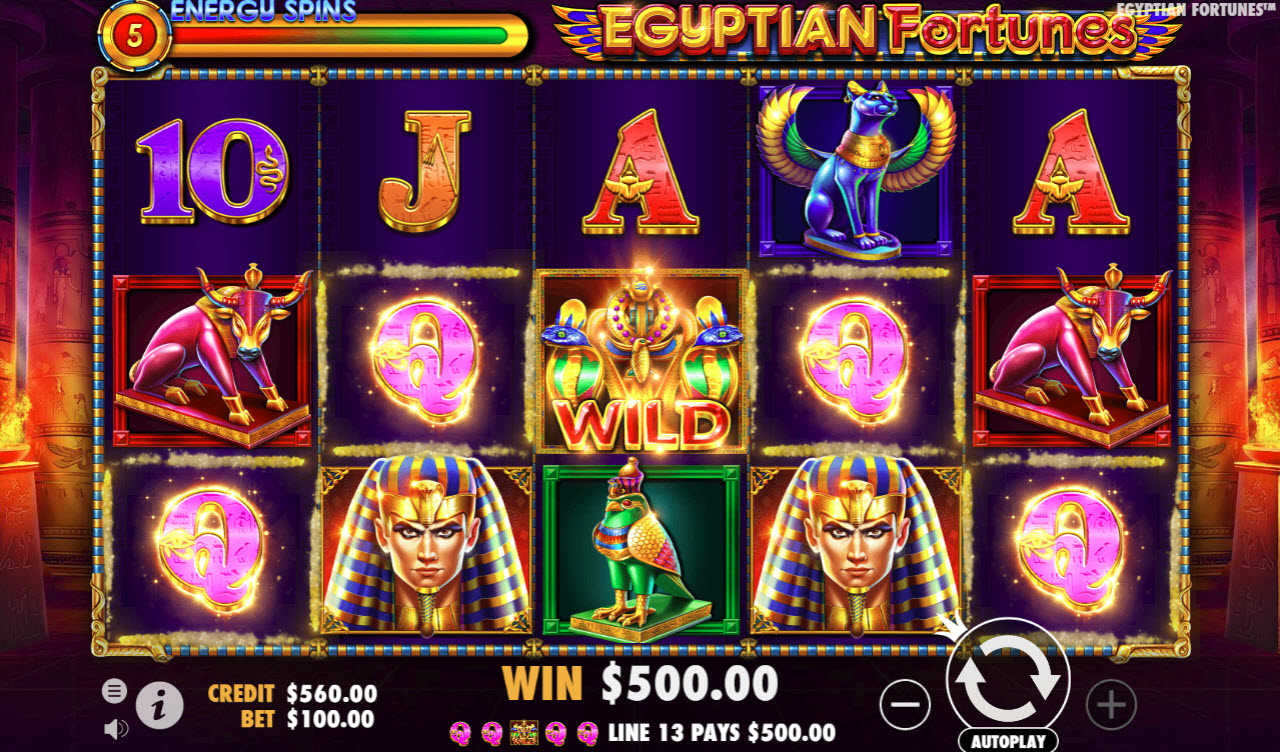 Egyptian Fortunes :: Five of a kind