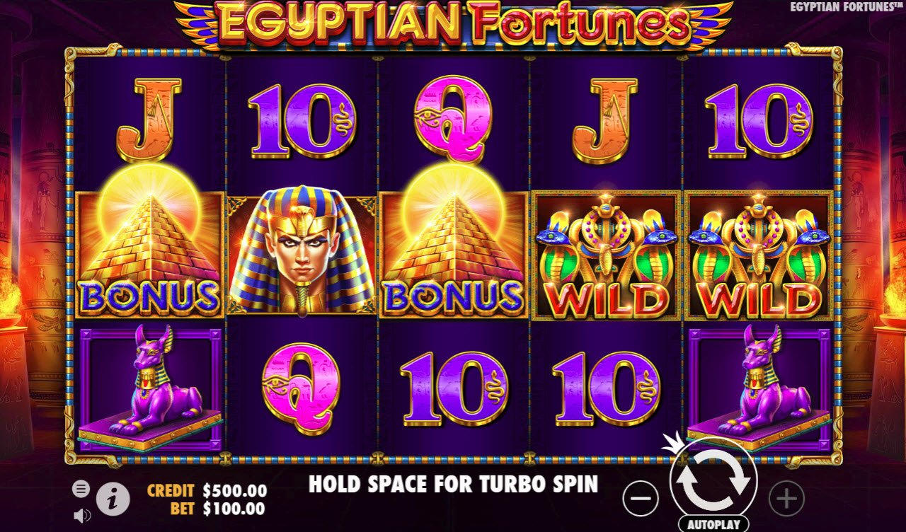 Egyptian Fortunes :: Main Game Board