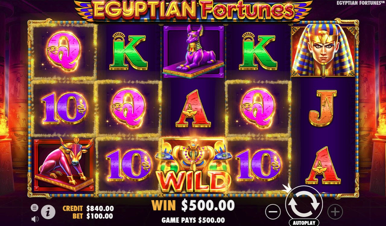 Egyptian Fortunes :: Multiple winning paylines