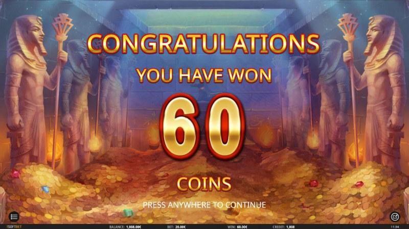 Egyptian King :: Total bonus payout