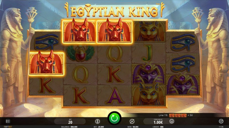 Egyptian King :: Three of a kind