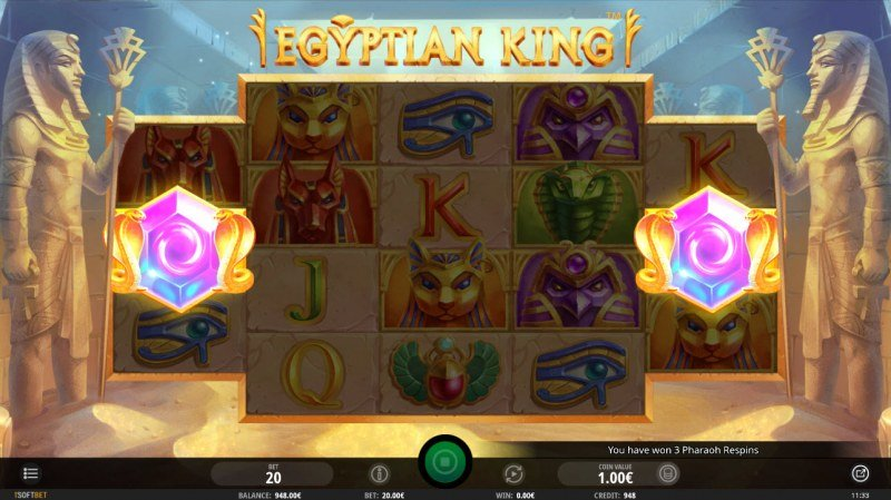 Egyptian King :: Scatter symbols triggers bonus feature
