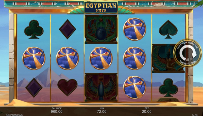 Egyptian Pays :: A four of a kind win