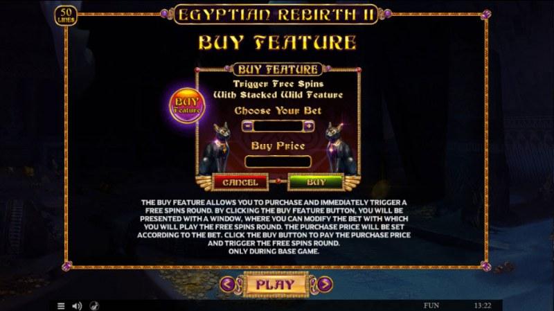Egyptian Rebirth II :: Buy Feature