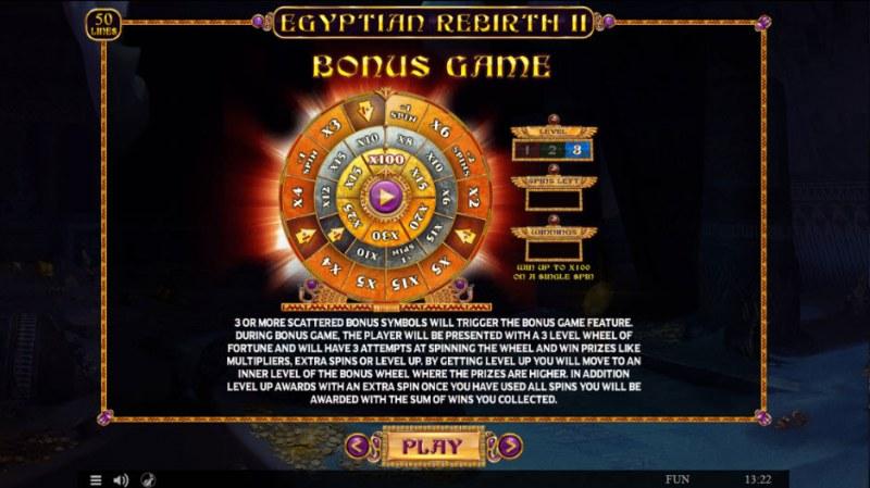 Egyptian Rebirth II :: Bonus Game Rules