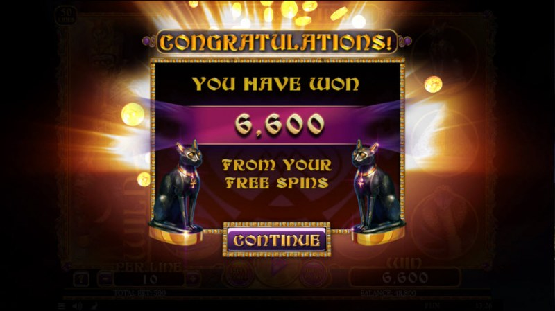 Egyptian Rebirth II :: Total free spins payout
