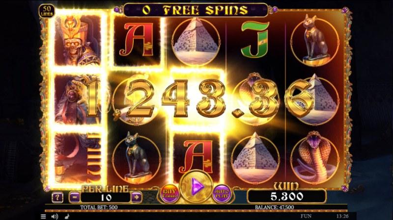 Egyptian Rebirth II :: Multiple winning paylines