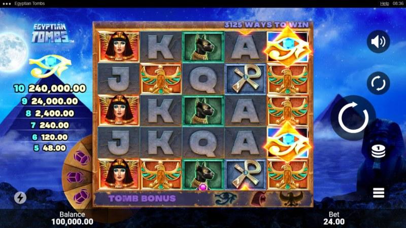 Egyptian Tombs :: Main Game Board