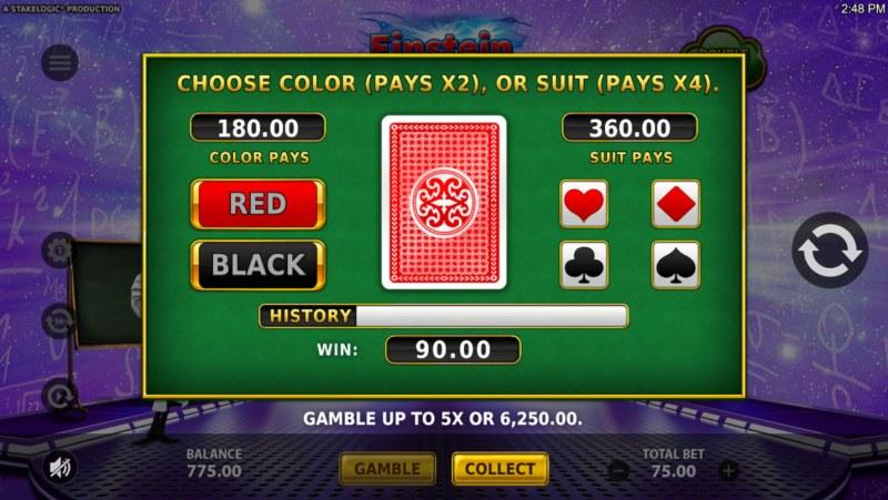 Einstein Eureka Moments :: Gamble Feature Game Board