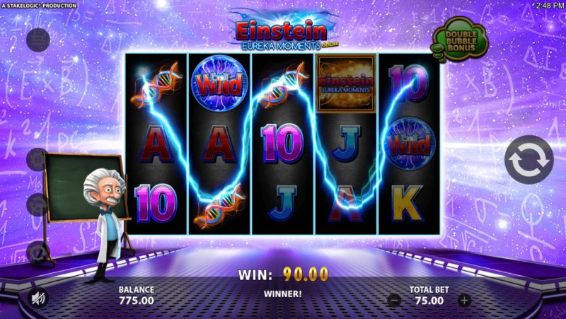 Einstein Eureka Moments :: 3 of a kind win