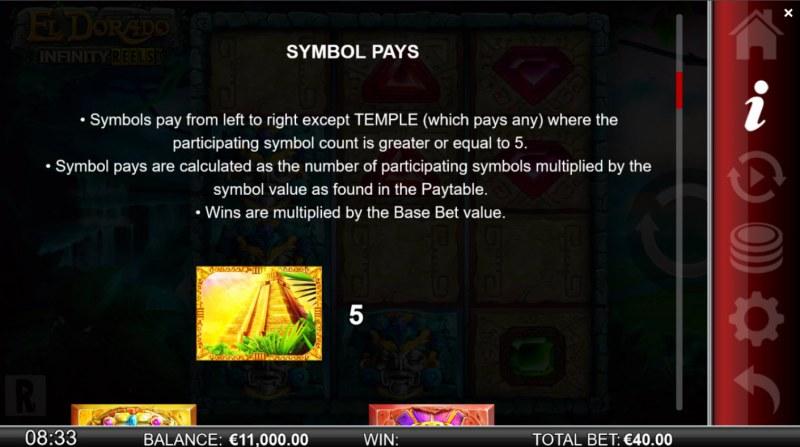 El Dorado Infinity Reels :: Paytable - High Value Symbols