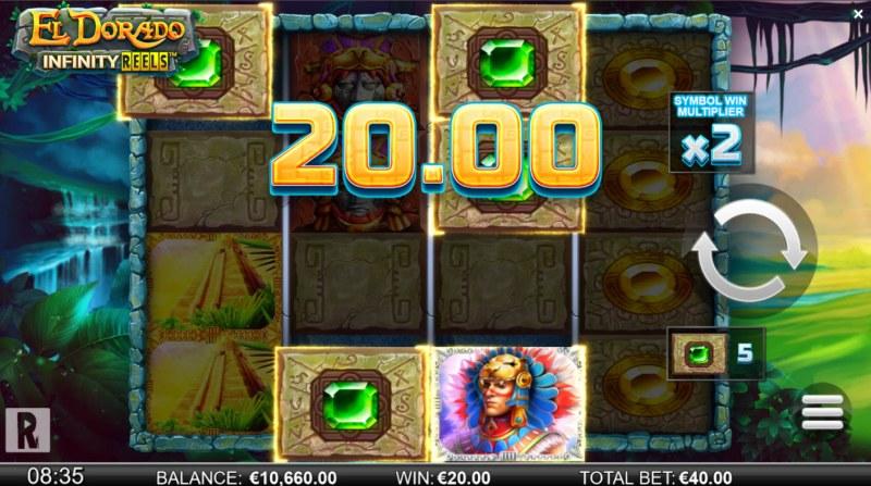 El Dorado Infinity Reels :: A three of a kind win