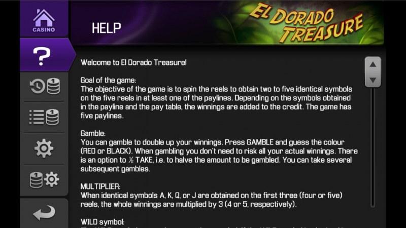 El Dorado Treasure :: General Game Rules