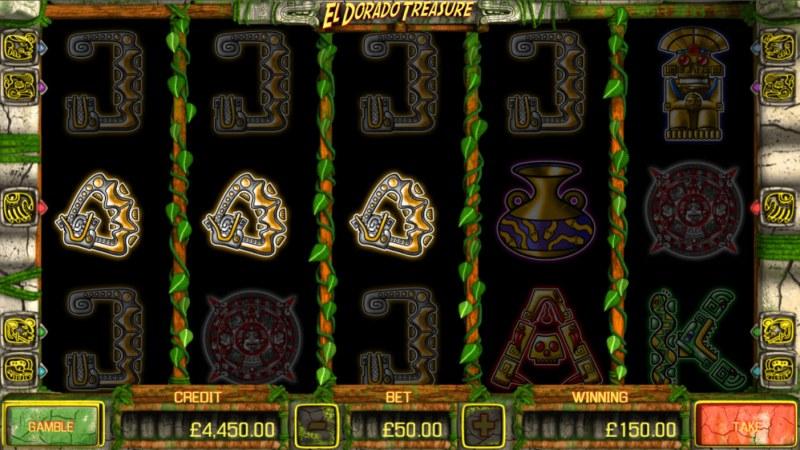 El Dorado Treasure :: A three of a kind win
