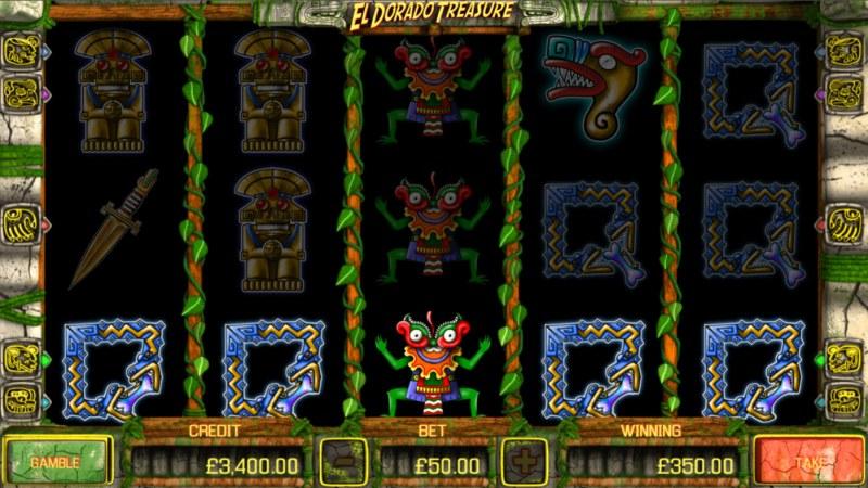 El Dorado Treasure :: A five of a kind win
