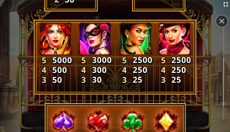 El Paso Gold :: Paytable - High Value Symbols