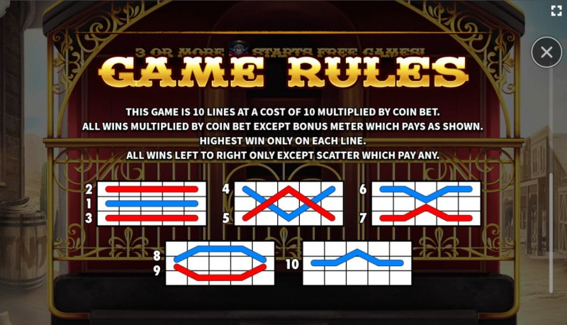 El Paso Gold :: General Game Rules