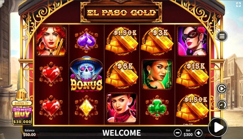 El Paso Gold :: Base Game Screen