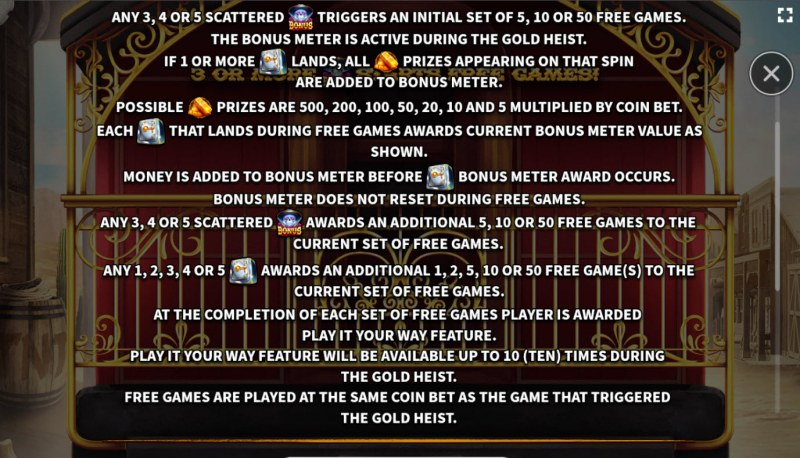 El Paso Gold :: Feature Rules