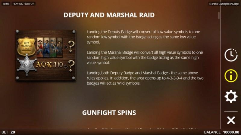 El Paso Gunfight xNudge :: Feature Rules