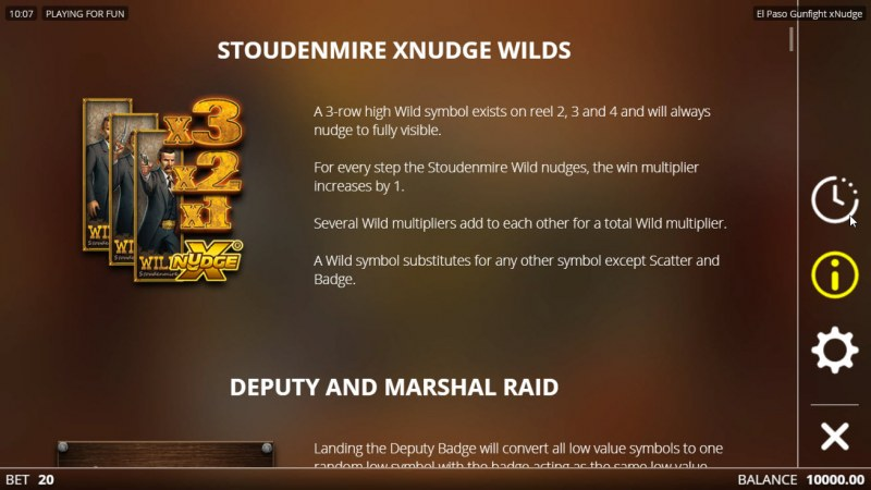 El Paso Gunfight xNudge :: Wild Symbol Rules