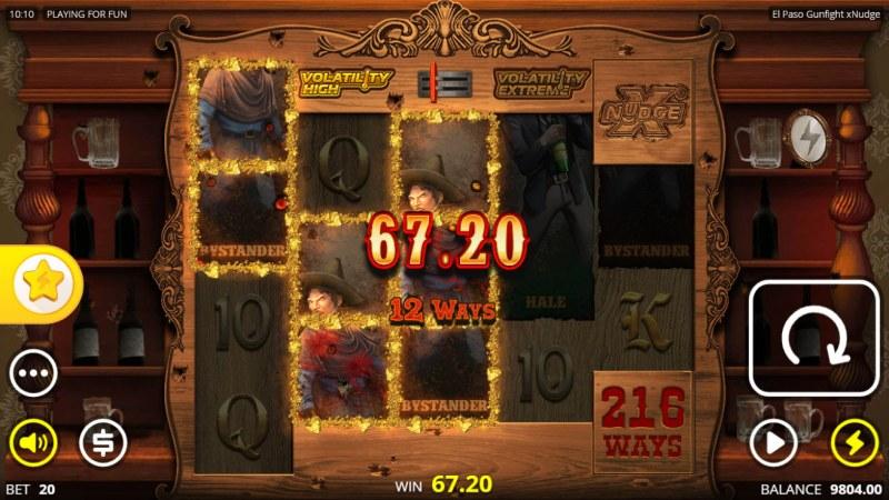 El Paso Gunfight xNudge :: Multiple winning combinations