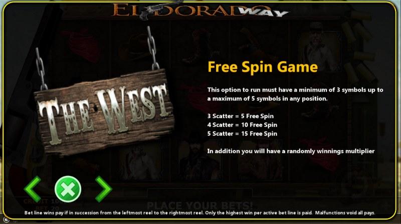 Eldorado Way :: Free Spins Rules