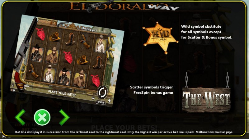 Eldorado Way :: Wild and Scatter Rules