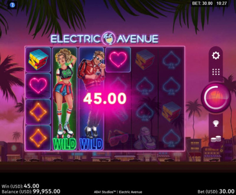 Electric Avenue :: Multiple winning paylines
